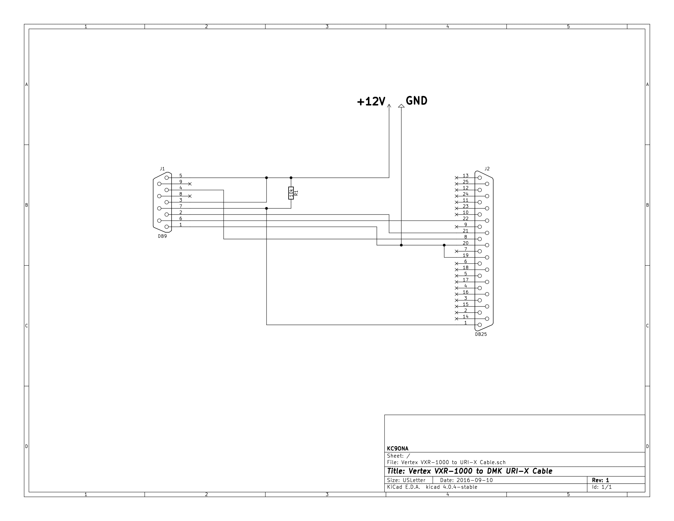 Cable Schematic